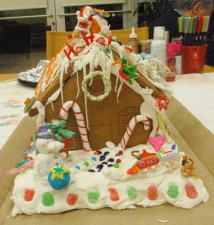 "The ""Front View"" of our Gingerbread House"