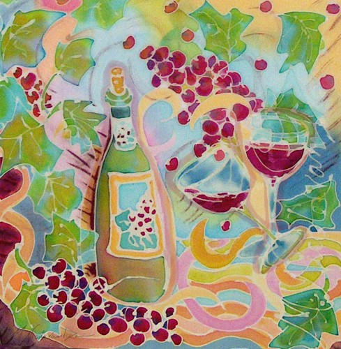 """The Bounty of Grapes"" by M. Nicole van Dam"