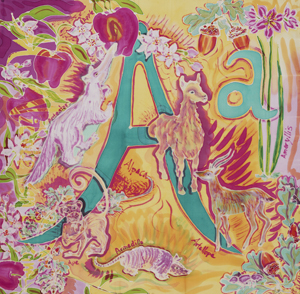 """The Letter A"" Alphabet Art by M. Nicole van Dam"