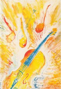 """Violin Study"" by M. Nicole van Dam"