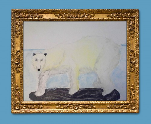 Sydney's wonderful polar bear artwork