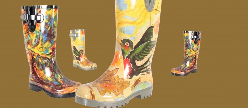 Two Fun New Boot styles with M. Nicole van Dam artwork!