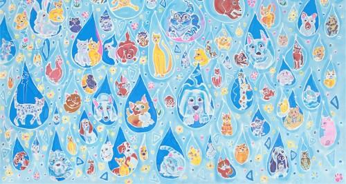raining cats banner