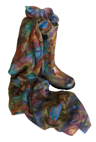 Indian Autumn boot and scarf