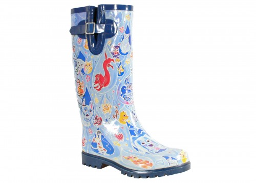 "The super adorable ""Raining Cats & Dogs"" boot."
