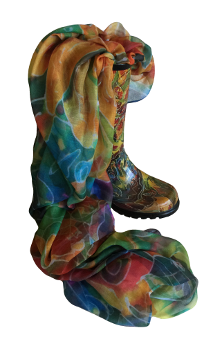 Butterfly Fantasy boot and scarf