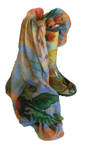 Hummingbird Friends boot and scarf