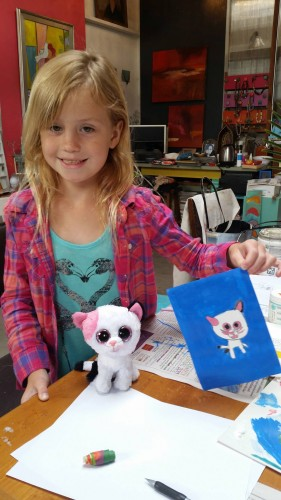 Sydney sharing her FUN cat artwork and its inspiration