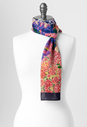"""Bench at Giverny"" scarf"