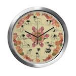 Leonberger Clock (silver color frame)